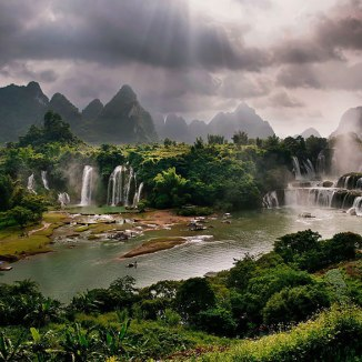 #Cachoeira de Detian