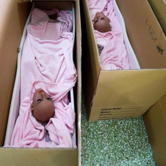 Sex Dolls em caixas