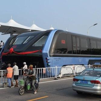 TEB Elevated Bus China#1